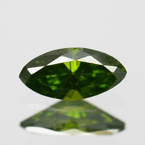 Hi - Stunning  0.09 Cts Natural Diamond Vivid Green Marquise Africa