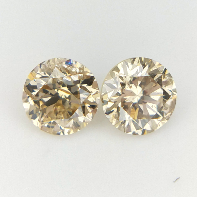 2/0.35 CTS , Natural Round Diamonds , Yellow Diamond