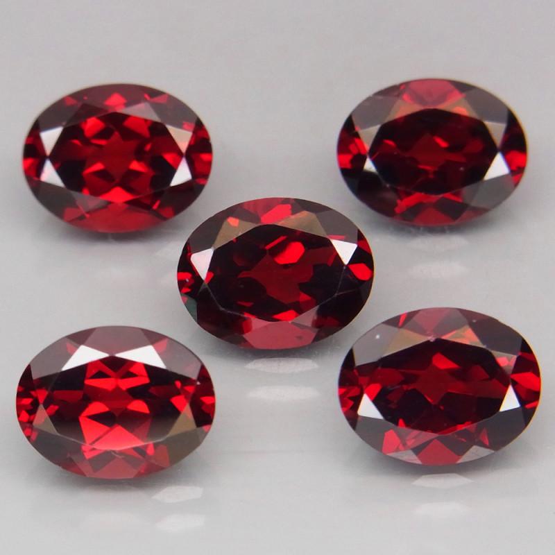 11.64 ct. Natural Earth Mined Red Rhodolite Garnet Africa - 5 Pcs