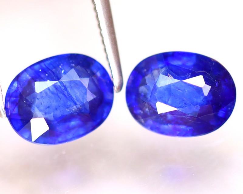 Ceylon Sapphire 3.35Ct 2Pcs Royal Blue Sapphire EF3013/A23