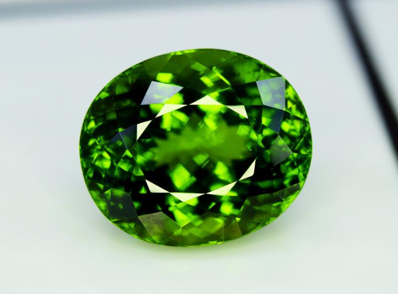 Peridot, 43.50 Ct Top Quality Oval Shape Peridot Gemstone