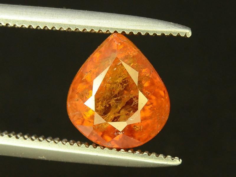 Attractive 3.0 ct Orange Colour Spessartite Garnet