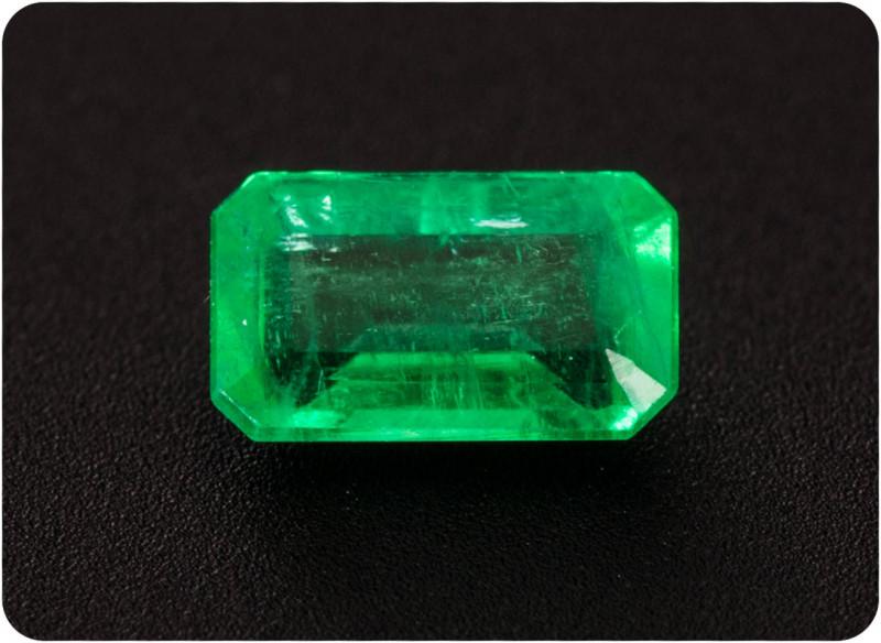 Emerald  0.23 ct Zambia GPC Lab