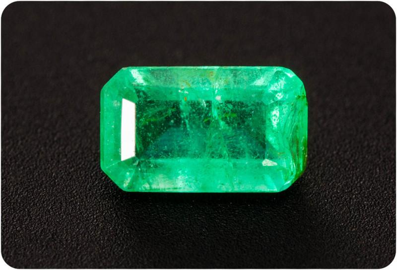 Emerald  0.28 ct Zambia GPC Lab