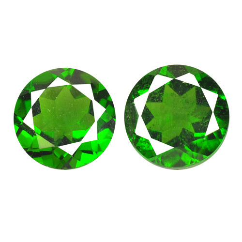 1.70 Cts 2 Pcs Natural Green Color Chrome Diopside Loose Gemstone