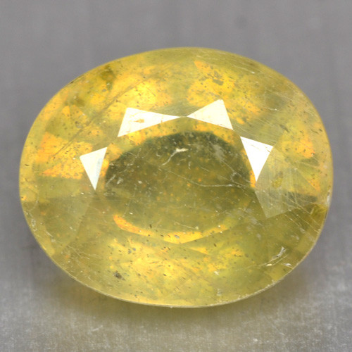 3.82 Cts Rare Fancy Yellow Sapphire Natural Gemstone