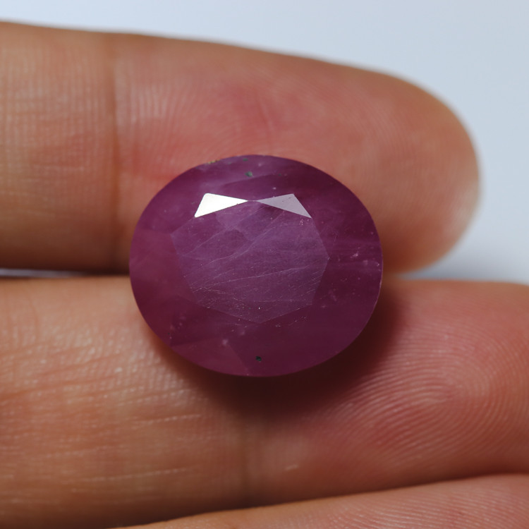 20.61ct Natural Faceted Ruby **Earth-Mined**