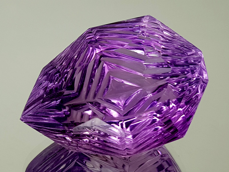 49.34CT NATURAL AMETHYST PRECISION CUT IGCAMPP25