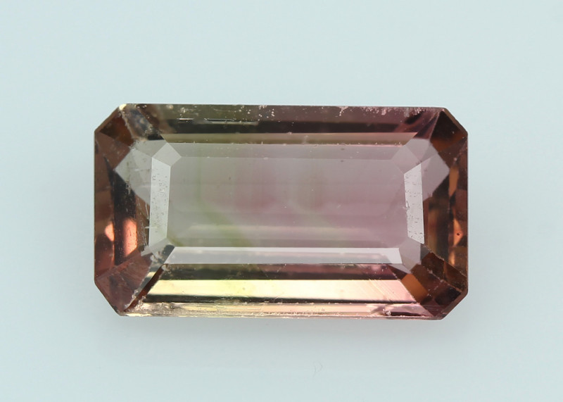 Bi colour Tourmaline, from Nigeria, rare gems very special, exceptional col