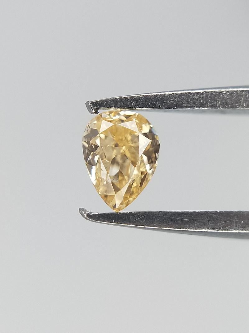 0.06 CT ,Very Light Yellow Diamond , Natural Yellow Diamond