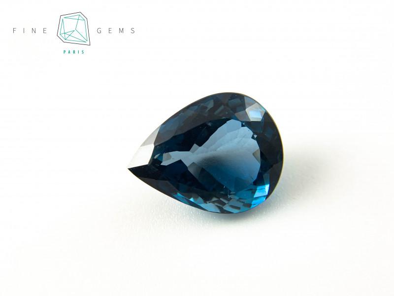 21.03 carats London Blue Topaz Pear cut