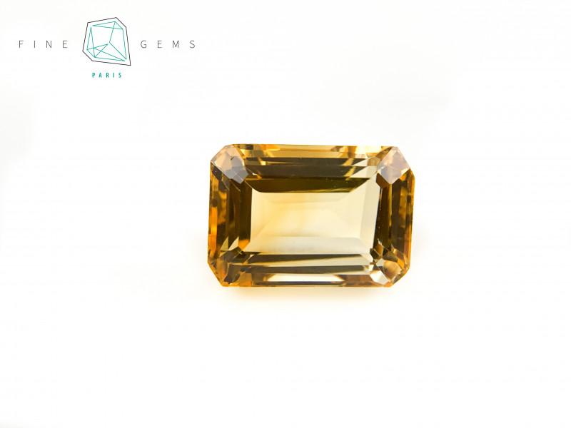 9.85 carats Natural Citrine Octa cut