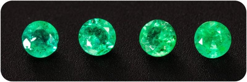 Emerald  0.15 ct Zambia GPC Lab