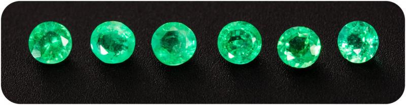 Emerald  0.21 ct Zambia GPC Lab