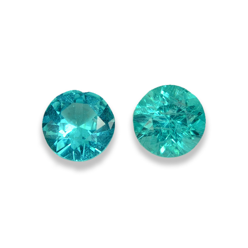 2.18 Cts Stunning Lustrous Paraiba Color Round Apatite