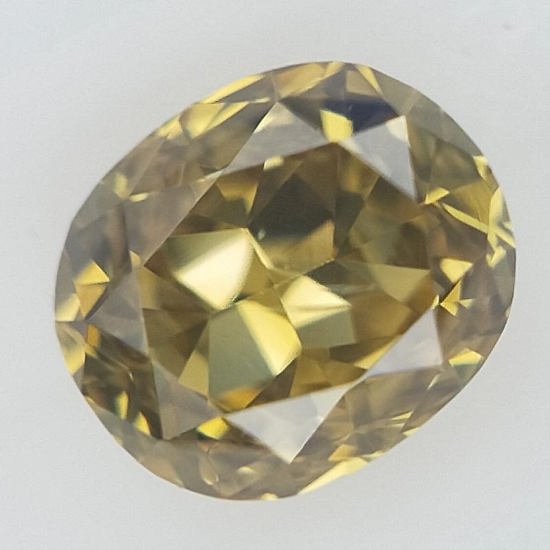 0.10 CT , Oval Natural Diamond ,  Fancy Diamond
