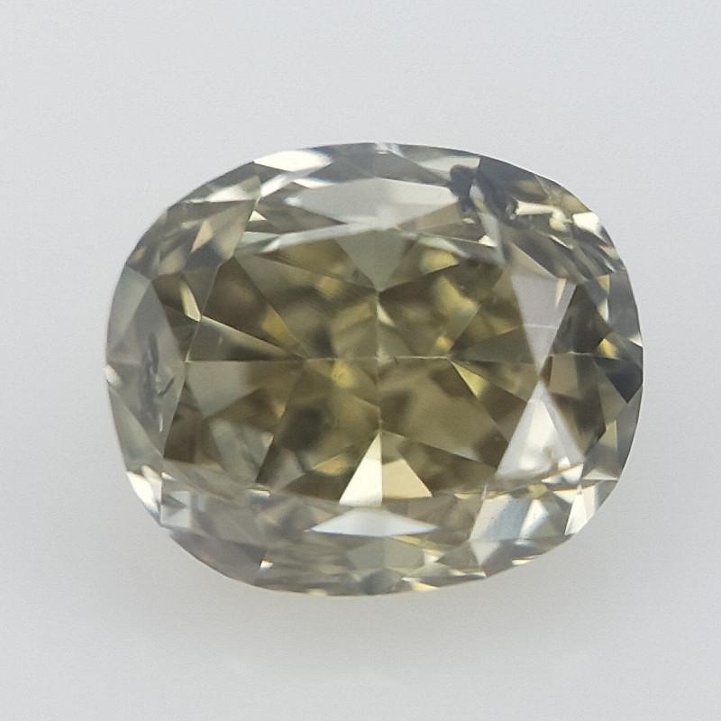 0.15 ct , Oval Brilliant Cut , Green Colored Diamond