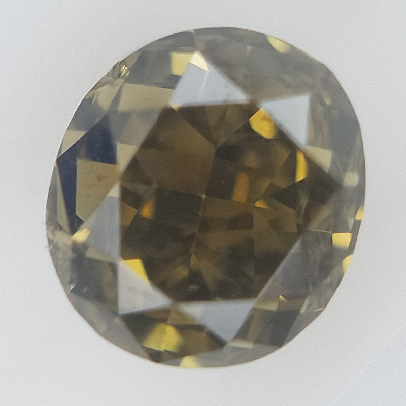0.15 CT , Natural Green Diamond ,Modified Oval Cut