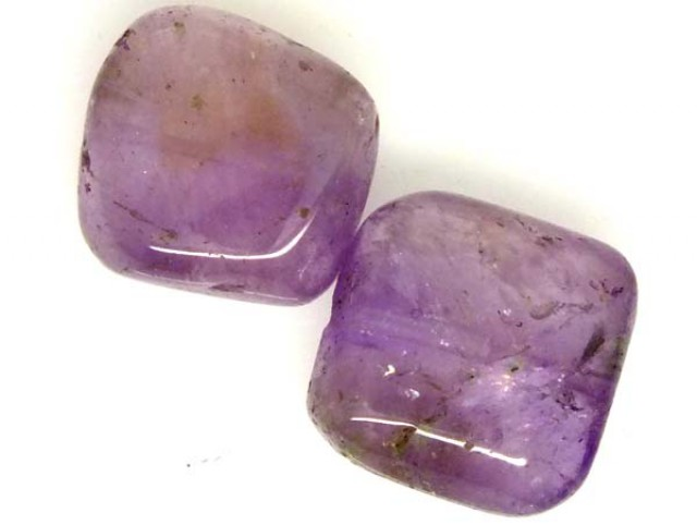 AMETHYST BEAD NATURAL 2 PCS 20.8 CTS  NP-1395