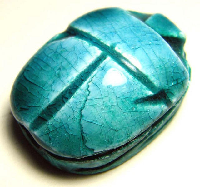 EGYPTIAN SCARAB BEETLE  DRILLED BEAD 95.50 CTS  LT-242