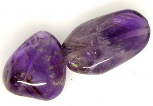 AMETHYST BEAD DRILLED 2 PCS 32.8 CTS  NP-1365