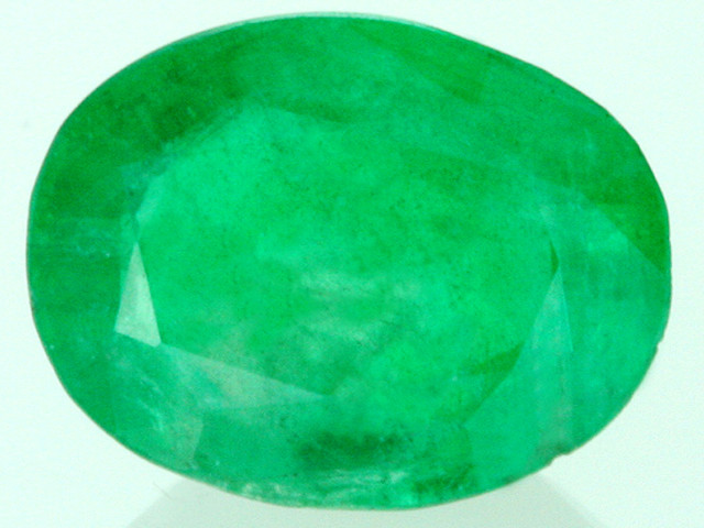 CERTIFIED EMERALD OVAL FACETED GEMSTONE  1.75 CARATS  GTT 26