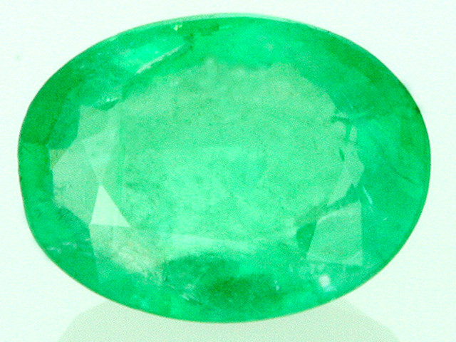 CERTIFIED EMERALD OVAL FACETED GEMSTONE 1.26  CARATS  GTT 27