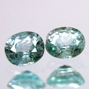 1.80 CARAT WEIGHT OVAL STEP CUT SEA FOAM BLUE COLORED ZIRCON, 'A NATURAL UNTREATED GEM'!!