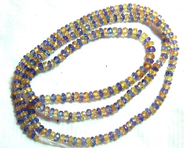 SAPPHIRE AND TANZANITE FACETED BEADS 2MM 30 CTS  PG-58