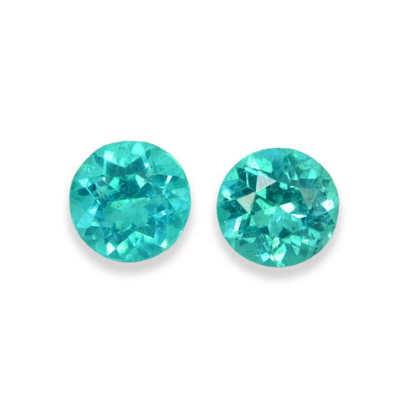1.68 Cts Stunning Lustrous Paraiba Color Round Apatite