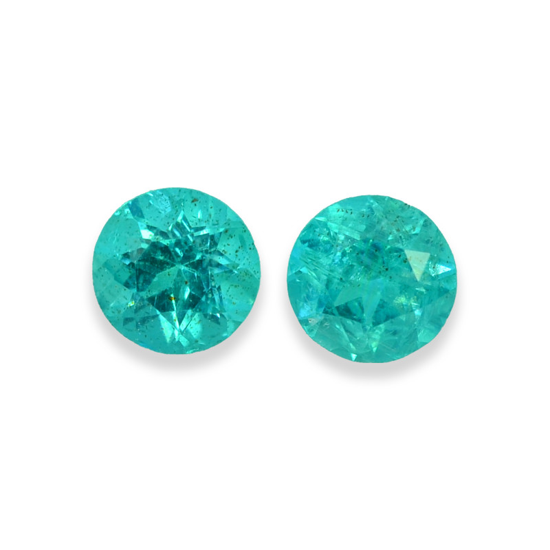 1.85 Cts Stunning Lustrous Paraiba Color Round Apatite