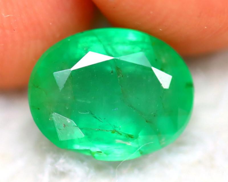 Emerald 2.07Ct Natural Zambia Green Emerald E0409/A37