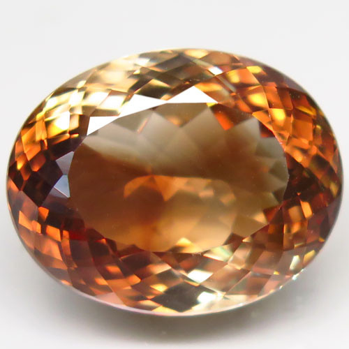 20.37 ct. 100% Natural Earth Mined Topaz Orangey Brown Brazil