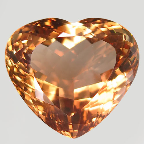 34.71 ct. 100% Natural Earth Mined Topaz Orangey Brown Brazil