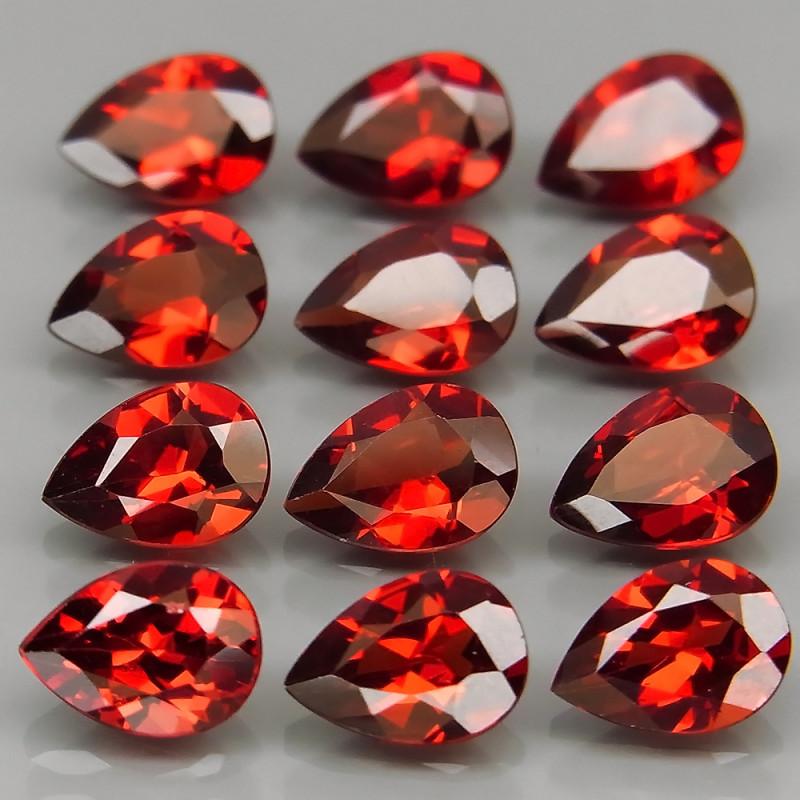 9.47  ct. Natural Red Rhodolite Garnet Africa - 12 Pcs