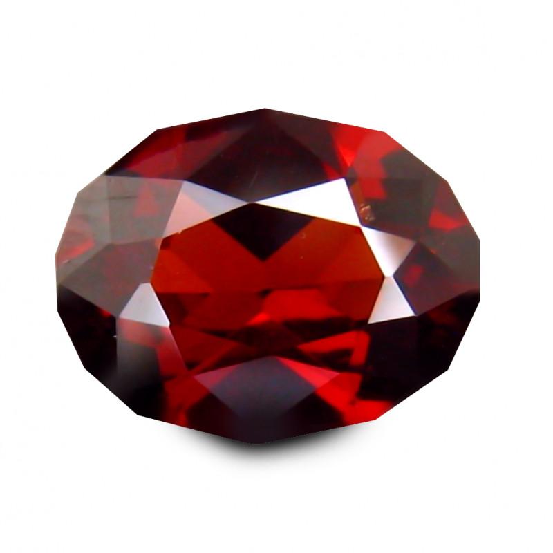 SPESSTITE GARNET 1.481 Cts RED Signature Geo Cut BGC491