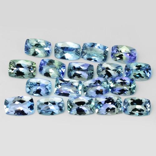 9.83 Cts 18pcs Amazing rare AA+ Green Color Natural Tanzanite Gemstone