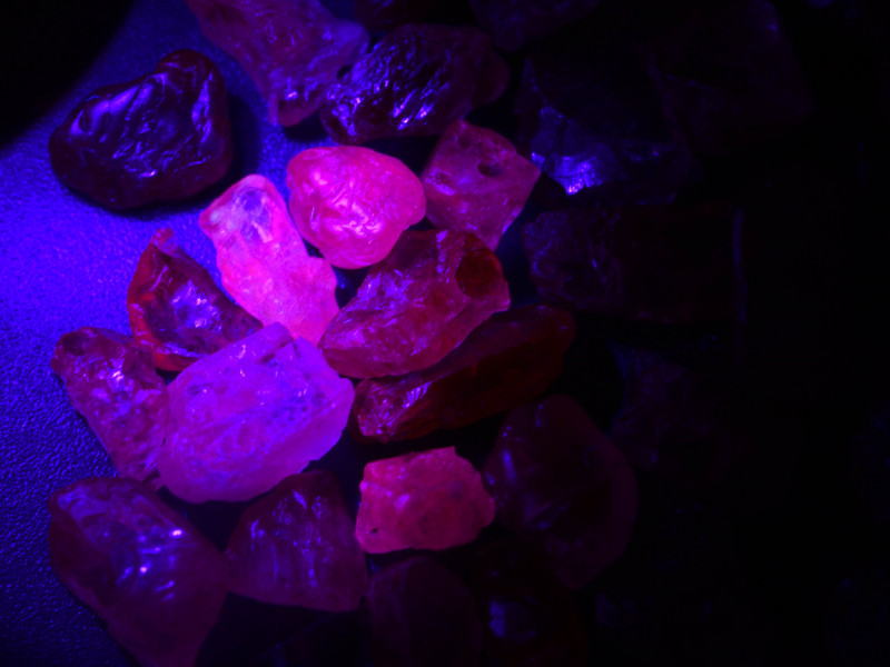 Rarest Rough Spinel 65.15 ct Fluorescent Burma