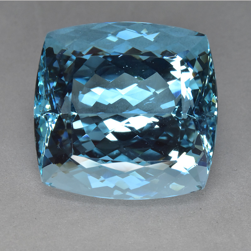 47.65 Cts -Sparkling Luster-Cushion Gem-Natural Fine Aquamarine~Dazzling!