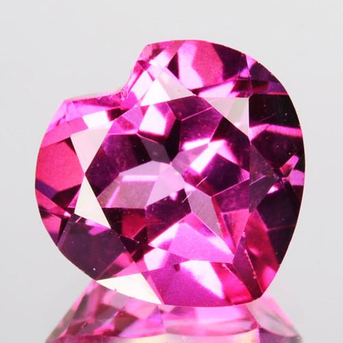 ~GORGEOUS~ 3.26 Cts Pink Natural Topaz 9mm Heart Cut Brazil