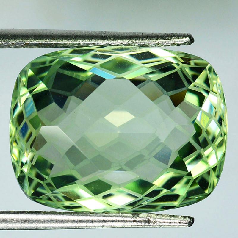 ~CUSTOM CUT~ 17.50 Cts Natural Prasiolite / Amethyst Fancy Cut Brazil