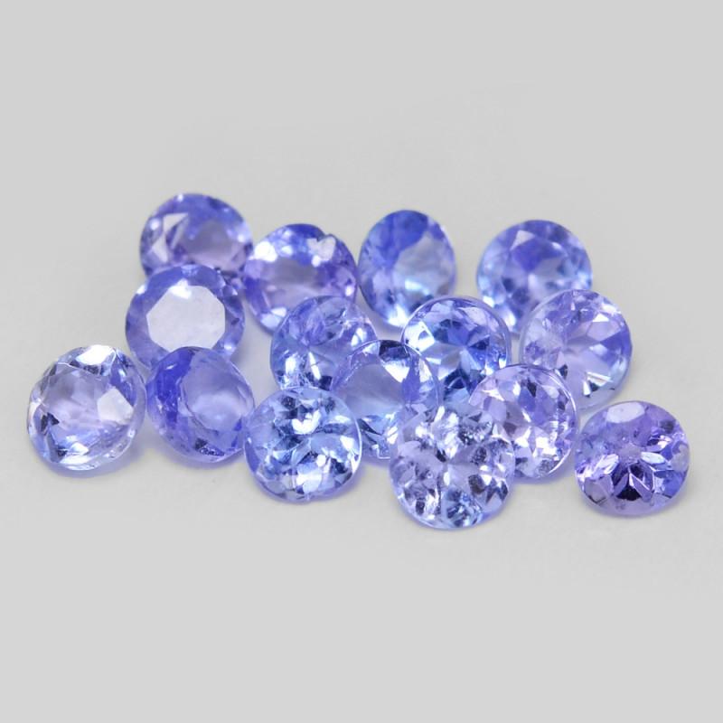 *NoReserve*Tanzanite 0.70  Cts 15pcs Rare Violet Blue Color Natural Gemston