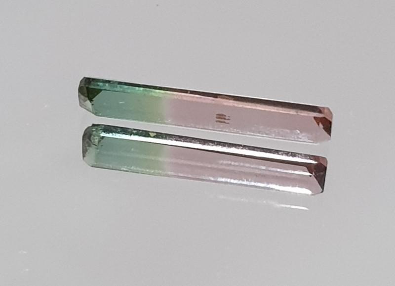 0.53ct Bicolor Tourmaline 11.7x2.6mm (SKU14)
