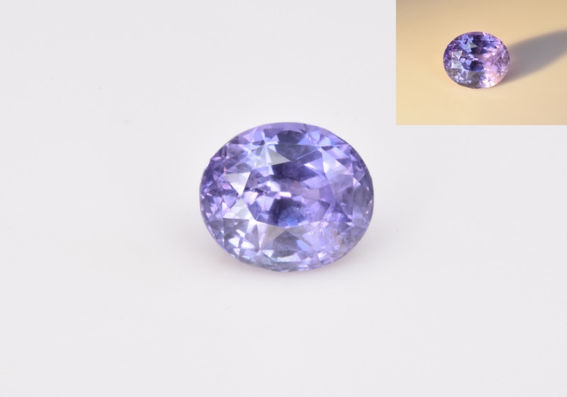 Natural Color Changing Sapphire 2.12 Cts Gemstone from Sri Lanka