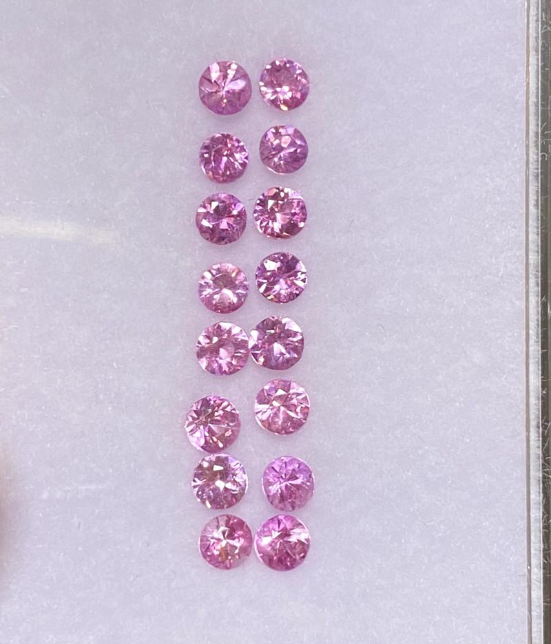 2.33ct brilliant unheated pink sapphire