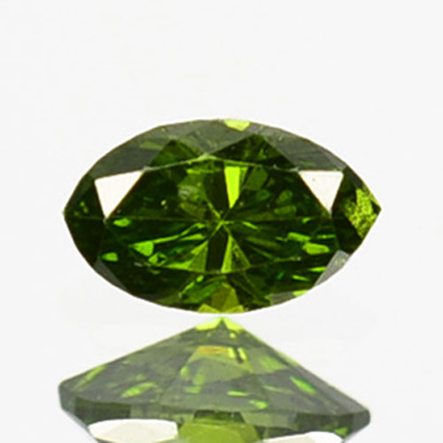 Hi - Stunning  0.06 Cts Natural Diamond Vivid Green Marquise Africa