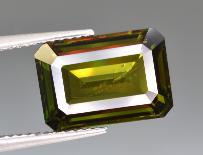 Natural Color Changing Chrome Sphene 6.22 Cts from Skardu, Pakistan