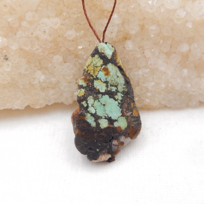 30.5cts  Turquoise ,Handmade Gemstone ,Turquoise Pendant ,Lucky Stone H973