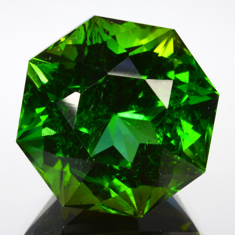 ~CUSTOM CUT~ 18.72 Cts Natural Fine Green Tourmaline Fancy Octagon Cut Nige