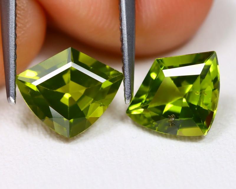 Peridot 3.01Ct VVS Shield Cut Natural Neon Green Color Peridot AB4229